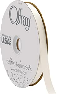 Offray Double Face Satin Craft Ribbon, 5/8-Inch Wide by 100-Yard Spool, Antique White