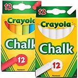 Crayola 绘儿乐 无粉尘粉笔2套装/12支彩色粉笔+12支白色粉笔