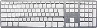 BLEUJOUR CTRL 齿键盘适用于 Apple PC/笔记本,带白色钥匙和铝表面数字键盘 -CTRLBTKUKG