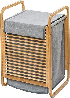 Wenko 62210100 洗衣箱,竹子,灰色,均码