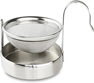 咖啡馆 ole The Stal 网格茶滤网和滴水碗收纳架,不锈钢,8.5 x 5.7 x 6.2 厘米