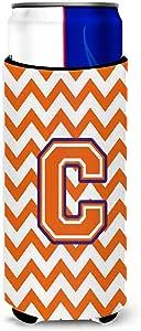 字母 C Chevron Orange and Regalia *瓶饮料保温器 Hugger CJ1062-CLITERK