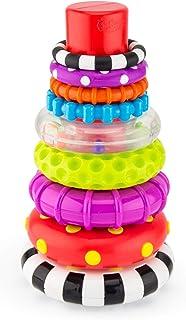 Sassy 圆圈堆叠环 STEM 学习玩具,9 件套,适合 6 个月以上宝宝