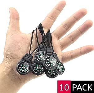 {ME SUPERB} 迷你存活指南针,10 只装 - 户外野营徒步口袋指南针液体填充迷你指南针用于跳绳手链项链钥匙链