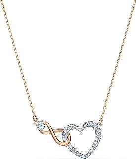 施華洛世奇女式白色混合金屬飾面 Infinity 心形項鏈 5518865