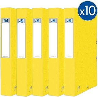 Oxford Eurofolio+ 纸板,带松紧带,标准容量,24 x 32厘米,背板40毫米,黄色,10件