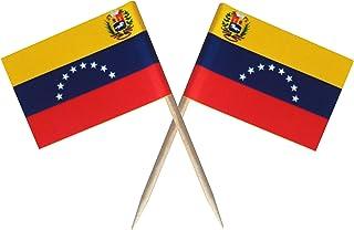 Nesha 生产的委内瑞拉牙签加州旗(100 只装)