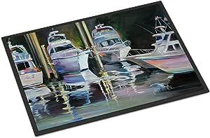 "Caroline's Treasures Deep Sea Fishing Boats Indoor or Outdoor Mat, 24"" x 36"", Multicolor"