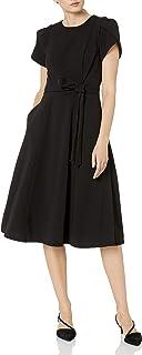 Calvin Klein 女士束带薄荷袖 A 字连衣裙