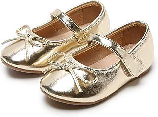 GINFIVE 女孩平底玛丽珍鞋一脚蹬学校派对礼服芭蕾鞋(幼儿/小童)