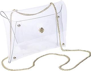Kendra Scott 透明斜挎包,带可调节金色链条,女式体育场批准透明比赛日包