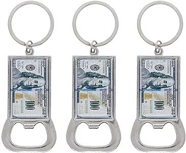 100 美元 Bill Beer 开瓶器钥匙扣 银色 均码 3STKC0081