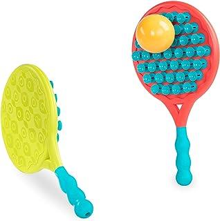 B. 由 Battat B. Suction Paddle 出品的玩具(3 件),暖红色