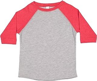 Rabbit Skins 幼童精细针织插肩七分袖棒球 T 恤