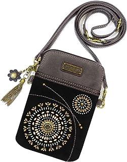 chala 拉链钱包腕带8个信用卡插槽坚固 PU 皮革