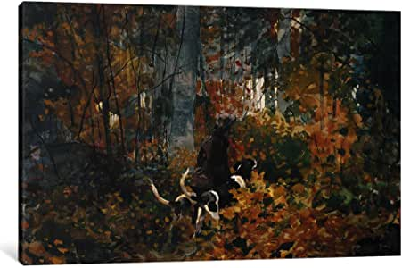 iCanvasART 1251-1PC6-18x12 On The Trail 1892 Canvas Print by Winslow Homer, 1.5 x 18 x 12-Inch