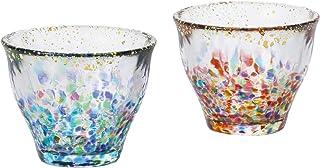 ADERIA阿德利亚(ADERIA)津轻玻璃杯 仅套装 睫毛・大枣金彩 85ml 日本制造 FS-71564