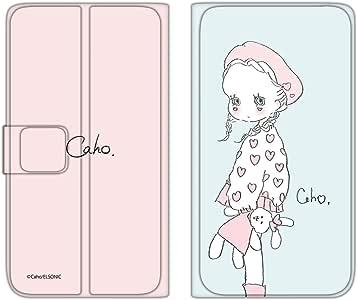 caho 保护套薄款印花翻盖毛绒玩具和小女孩手机保护壳翻盖式适用于所有机型  ぬいぐるみと少女E 2_ Xperia Z5 Premium SO-03H