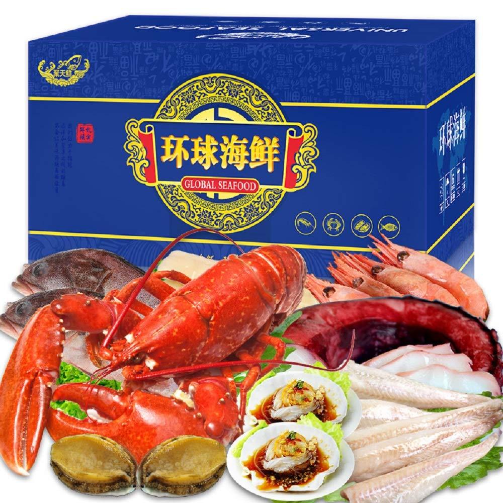 聚天鲜 环球海鲜礼盒大礼包海鲜年货礼券 2688型 共10