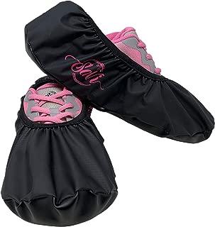 SaVi 保龄球鞋保护套一对黑色/粉色_中号和大号结构,耐久性