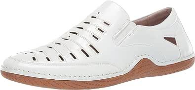 STACY ADAMS 男士 Orion 莫卡辛鞋头一脚蹬驾驶风格乐福鞋 白色 9 M US
