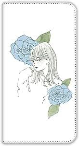 卡丽 壳 双面印刷手册 女孩和玫瑰 智能手机壳 手册式 对应全部机型 女の子とバラA 5_ ARROWS X F-10D