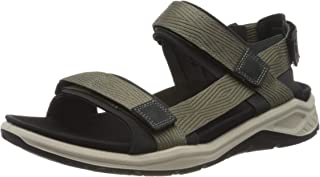 Ecco Outdoor 男式 X-TRINSIC 系带运动凉鞋,暖灰色织物,10