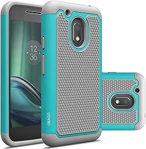 Moto G4 Play 手机壳,OEAGO Moto G Play 保护套配件【防震】【防冲击】混合双层保护套适用于摩托罗拉 Moto G4 Play/Moto G Play *四代 薄荷绿