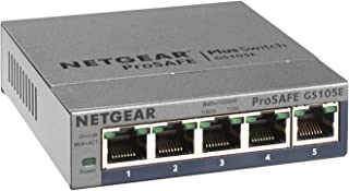 Netgear GS105E-200PES 不可控制/非托管的 网络交换机 L2/L3 千兆以太网 (10/100/1000) 灰色