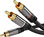 KabelDirekt 0.5米 Y 低音炮音频电缆(1 x RCA 至 2 x RCA) - PRO 系列346  Y 低音炮音频电缆 2m