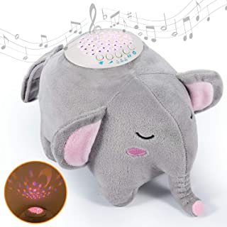 Momcozy 婴儿*安抚器,婴儿白噪声机,自动关闭定时器和音量控制夜灯安抚器,15 个摇篮曲声机,适用于新生儿及以上宝宝(大象)