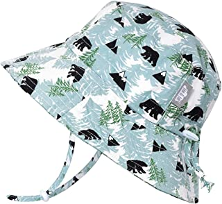 JAN & JUL 男孩透气棉质桶状太阳帽,可调节带子,婴儿,幼儿,儿童  Bucket Hat: Bear XL: 5 - 12Y