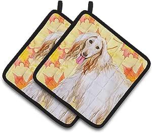 Caroline's Treasures BB9963PTHD 阿富汗猎犬秋季装饰锅架,19.05 高 x 19.05 宽,多色