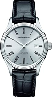 Hamilton H39515754 Men's American Classics Valiant Silver Dial Black Leather Strap Automatic Watch