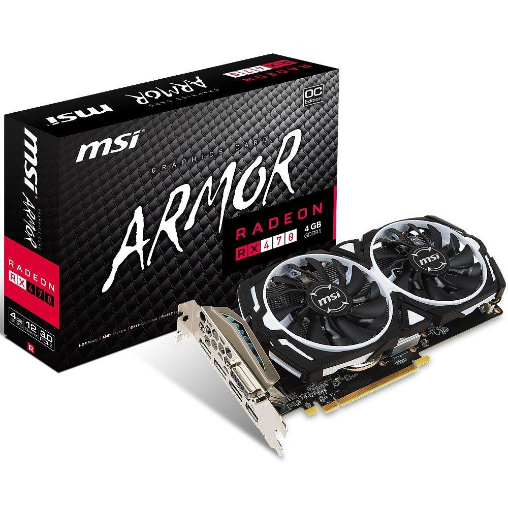 MSI Radeon RX 470 ARMOR 4G OC Radeon RX 470 4GB