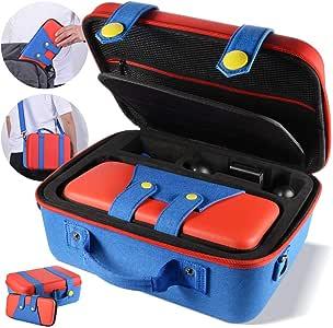 便携收纳盒兼容任天堂切换系统,可爱豪华,保护硬壳手提袋,任天堂切换控制台和配件