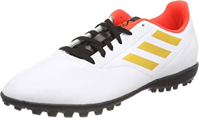 adidas 男式 conquisto II TF footbal SHOES Off White (Ftwr White/tactile Gold Met. F17/solar Red) 12.5 UK