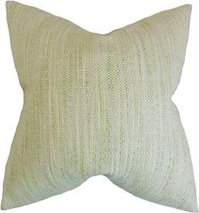 "Pillow Collection Lakota 条纹欧式枕套 Celery Queen/20"" x 30"" QUEEN-D-32758-CELERY-C97-L3"