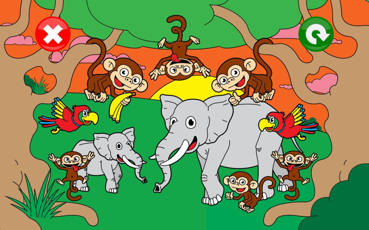 动物拼图为孩子与技巧免费:最好的学前班,幼儿园和一年级活动学前教育