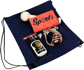 Covey Sports 棒球垒球手套断裂套装 - 手套槌、Rawlings 手套油柔顺剂、手套包裹、应用布和收纳袋