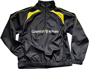 Guinness 黑色和黄色橄榄球表演 1/2 拉链上衣 套衫 黑色和黄色 Small