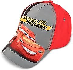 迪士尼男孩汽车闪电麦昆棉质棒球帽