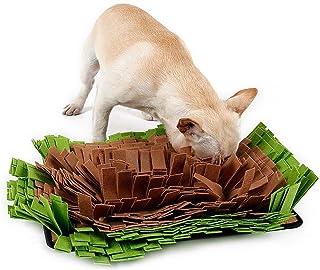Pet Snuffle Mat 狗猫慢速喂食垫 互动喂食毯 无聊 鼓励猫狗的天然觅食能力 旅行使用拼图分配器 玩具 室内室外压力 可机洗