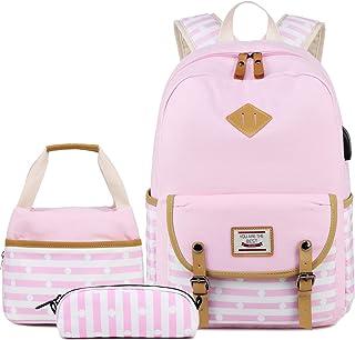 帆布学生背包休闲学生书包少女女孩