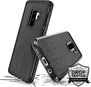 Prodigee [SuperStar] 适用于三星 Galaxy S9 手机套超薄保护壳 透明双材料防撞器 2 米*级认证跌落冲击测试SGS9plus-SSTR-SMK 透明/灰色