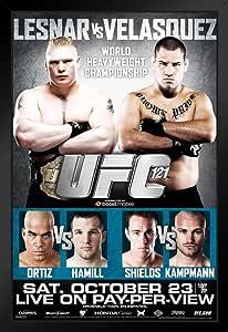 Pyramid America UFC 121 Brock Lesnar vs Cain Velasquez 运动 裱框海报 14x20 inches 99626