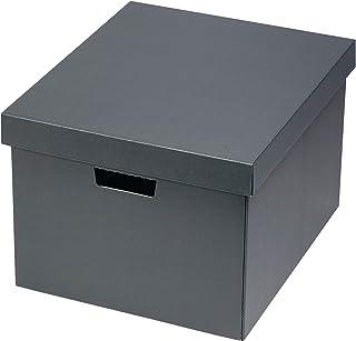 收纳BOX(L)(5片装) A4尺寸 深灰色 带盖 硬纸板 办公室 整理