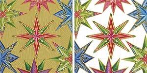 Caspari 纸鸡尾*餐巾纸,40 片装. Jeweled Stars 13451C, 13450C