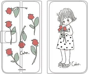 Caho 壳 手册式 薄型印刷手册 郁金香WN-LC993683_MX 3_ Galaxy S8 SC-02J チューリップA