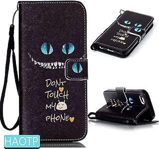 iPhone 6S Plus 手机壳,HAOTP(TM) 美丽奢华时尚 PU 翻盖支架信用卡身份证夹钱包皮革手机壳适用于 iPhone 6 Plus / 6S Plus 5.5 英寸 iPhone 6 / 6s Blue Cat Eyes